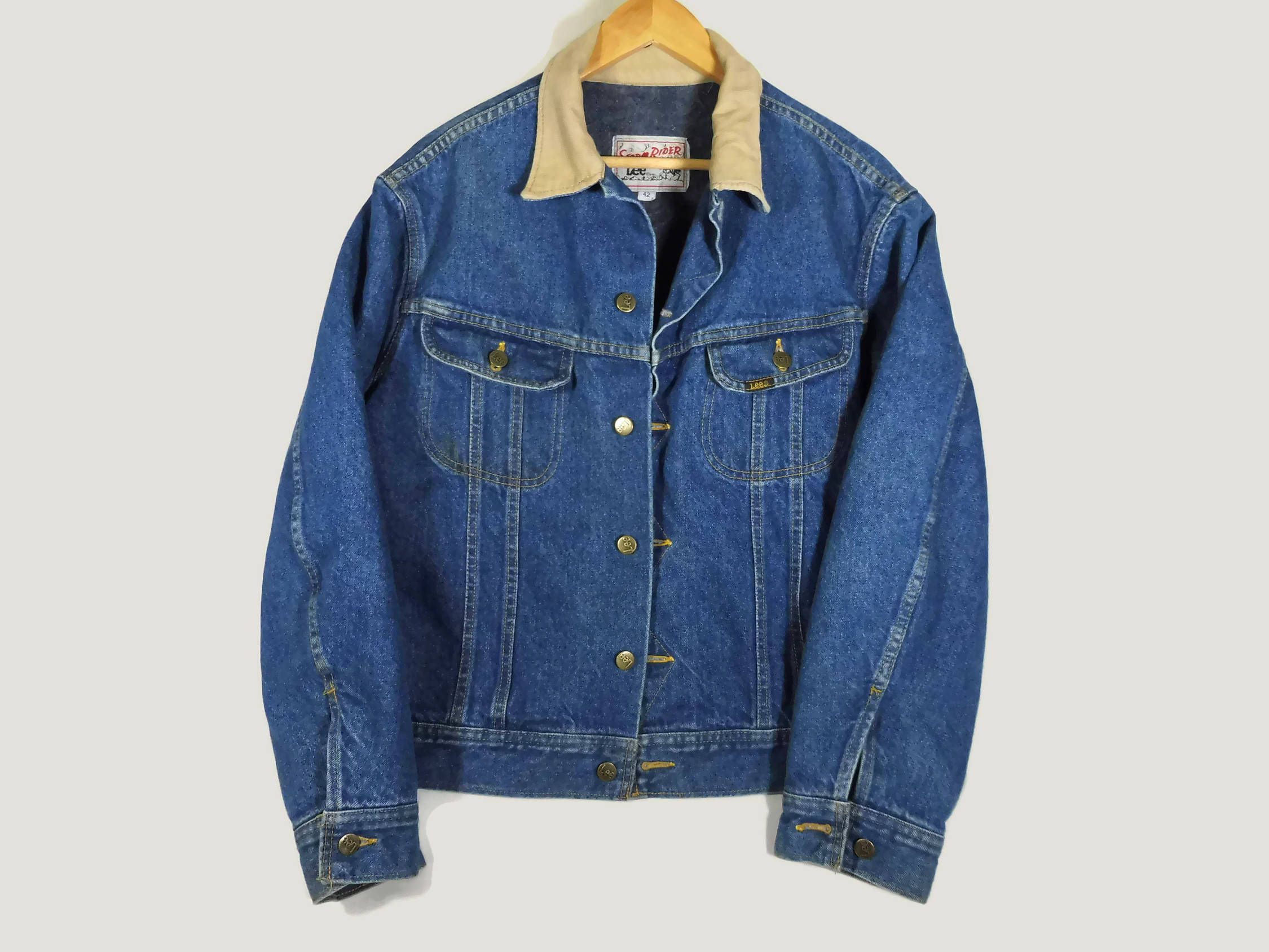 Vintage Mens Lee Stormrider Denim Jacket 42 Large Mens Etsy Denim Jacket Jackets Jacket Style [ 1688 x 2250 Pixel ]