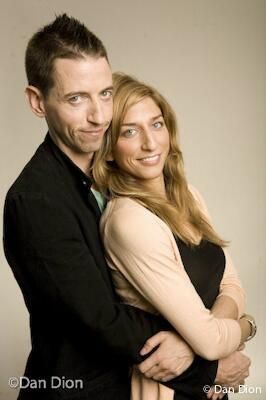 Photo of Neal Brennan  & his friend Chelsea Peretti