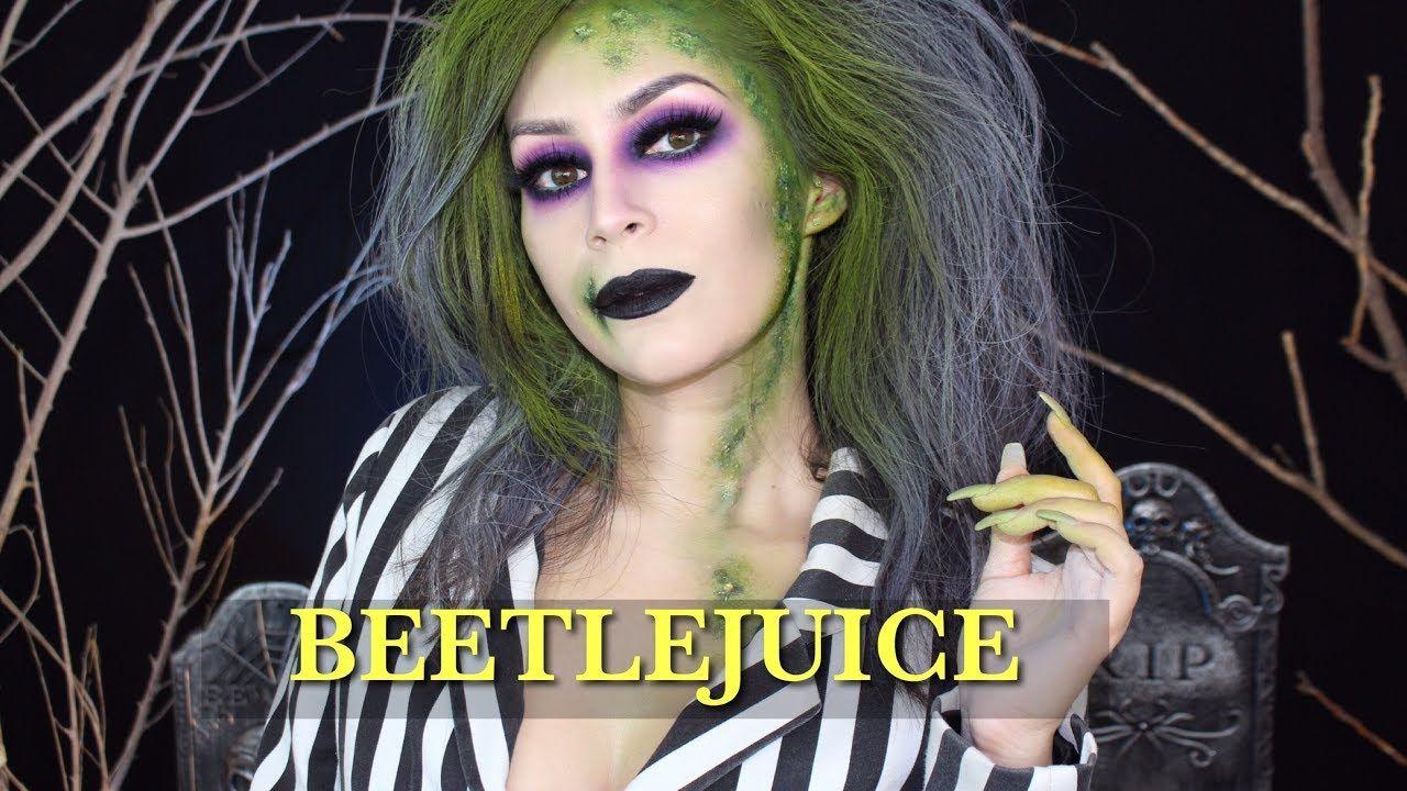 beetlejuice halloween makeup tutorial l beetlejuice girl version l