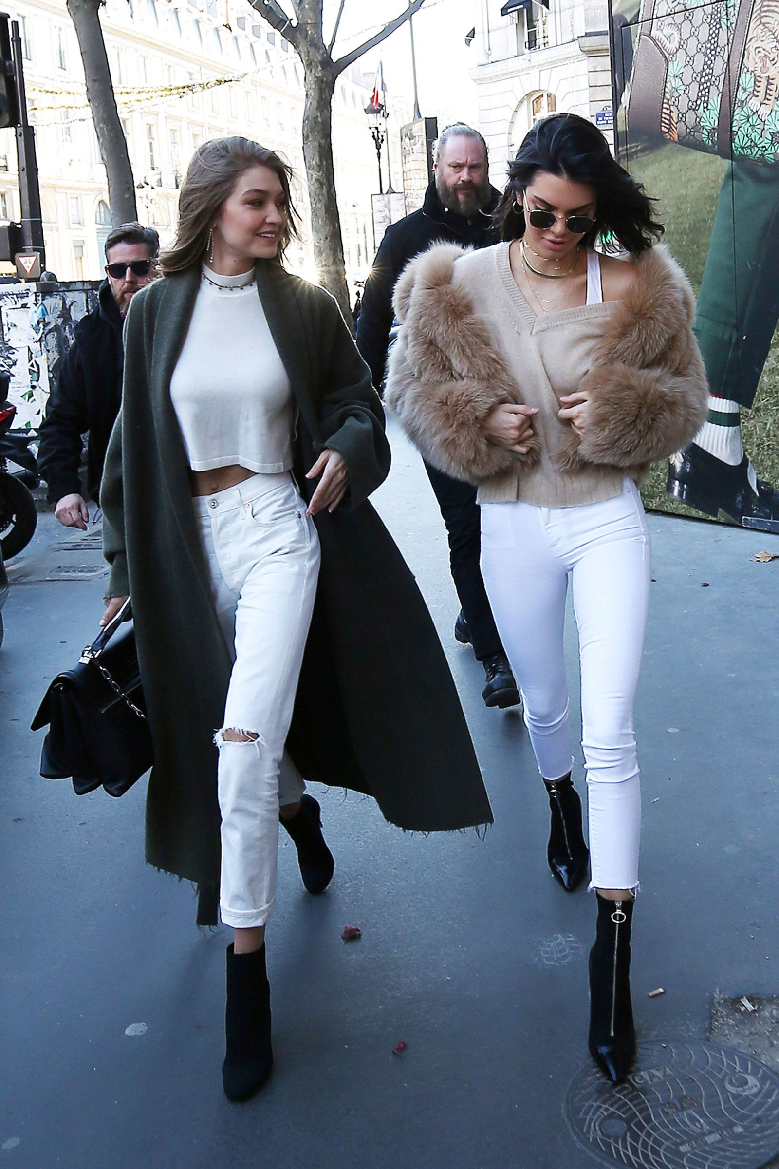 Kendall and Gigi Coordinate to Shop in Paris #styleinspiration