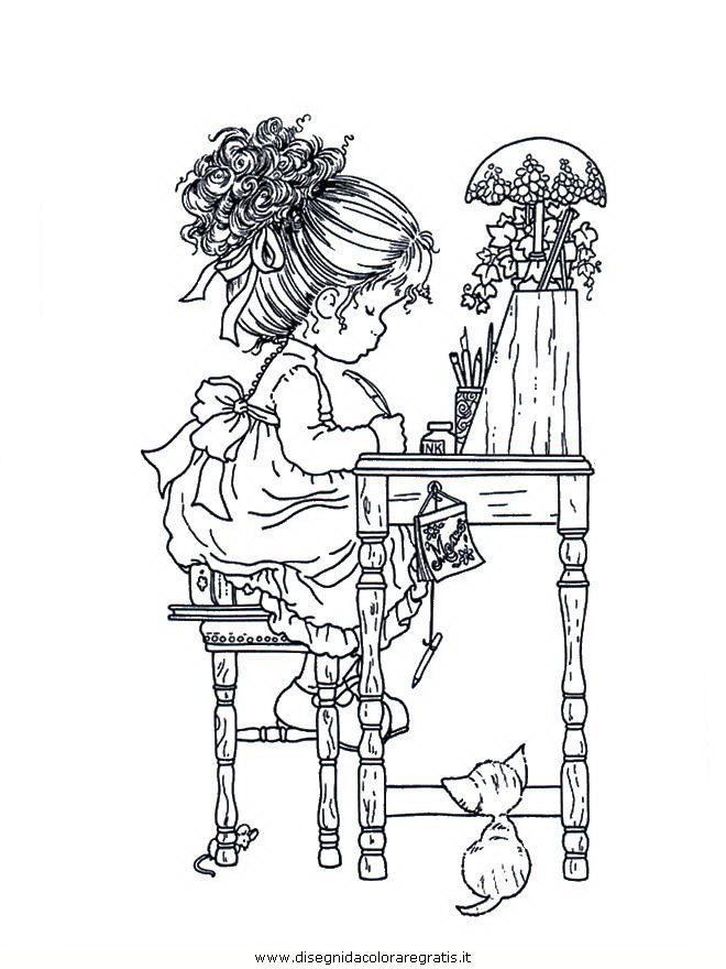 vintage holly hobbie coloring pages - cartoni sarah kay sarah kay 14 jpg barnamyndir til a