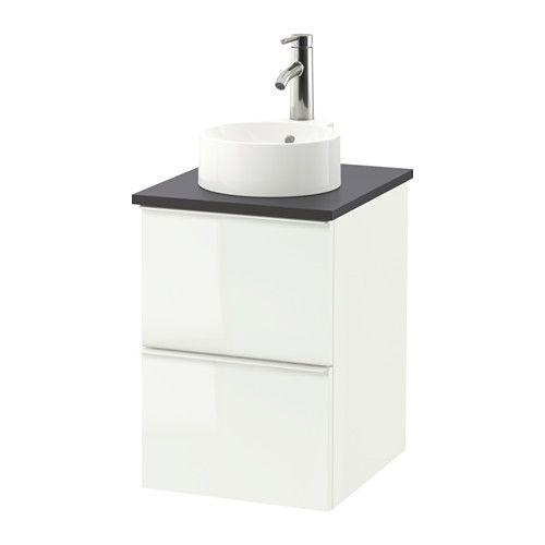 GODMORGON/TOLKEN / GUTVIKEN Meuble lavabo av lavabo à poser 29 - Meuble Vasque A Poser Salle De Bain