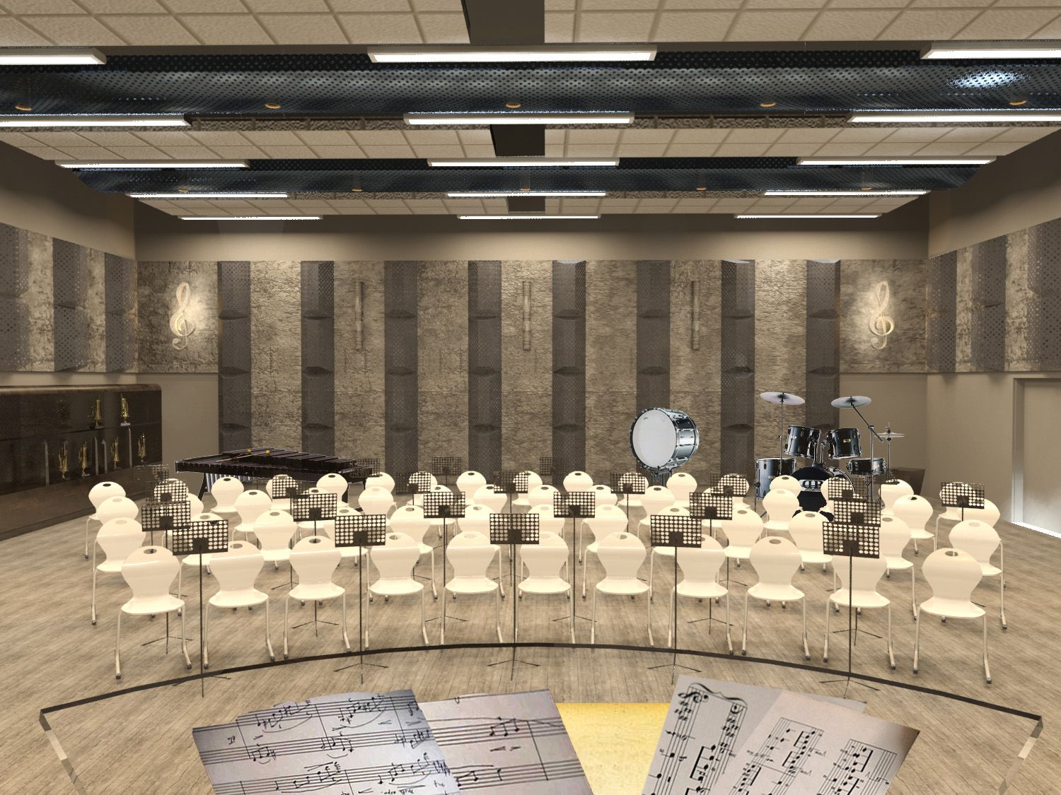 High school band room renovation google search music for Room decor ideas for high school