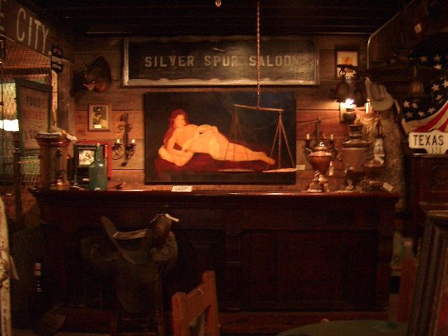 Genuine 19th Century Bar and Commission Original Oil Painting of Nude by  famed artist Richard Peterson