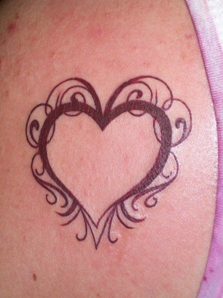 Heart Tattoo With Name Inside Heart Tattoos For Girls Tattoos