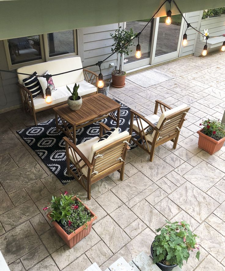 Five Easy Updates to Your Outdoor Living Space | Outdoor ... on Farmhouse Outdoor Living Space id=34131