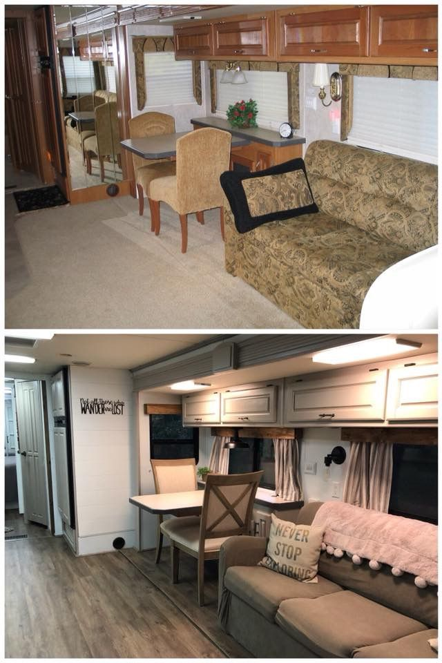 Pin By Kristy Nix Bussiere On Camping Ideas Camper Trailer Remodel Remodeled Campers Motorhome Remodel