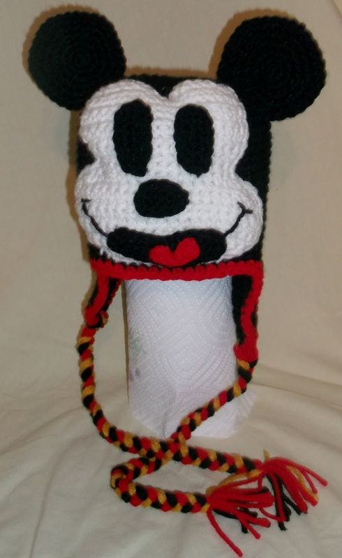 Crochet kids hat inspired by Mickey Mouse | crochet hats | Pinterest