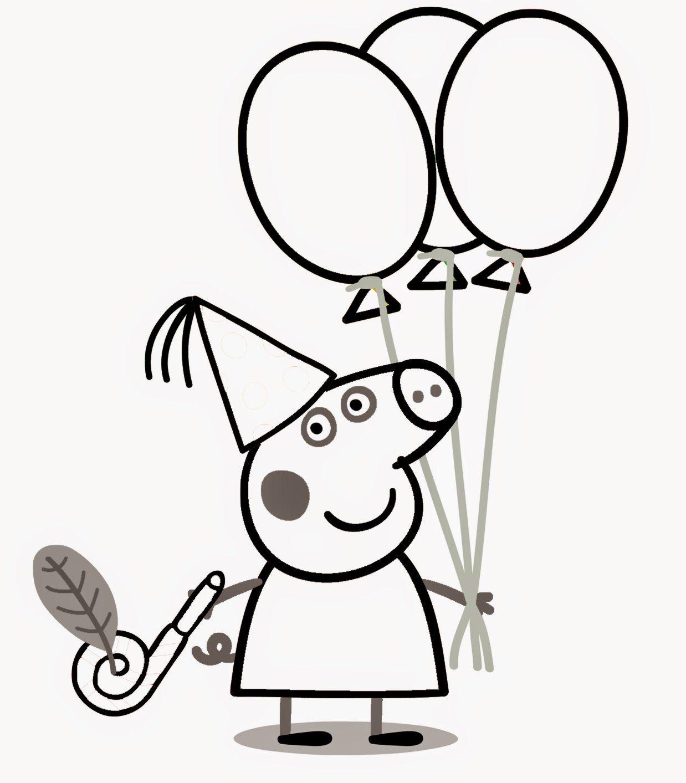 Desenhos da Peppa Pig para Colorir e Imprimir – Dibujos para Colorear no  Jogos Online Wx