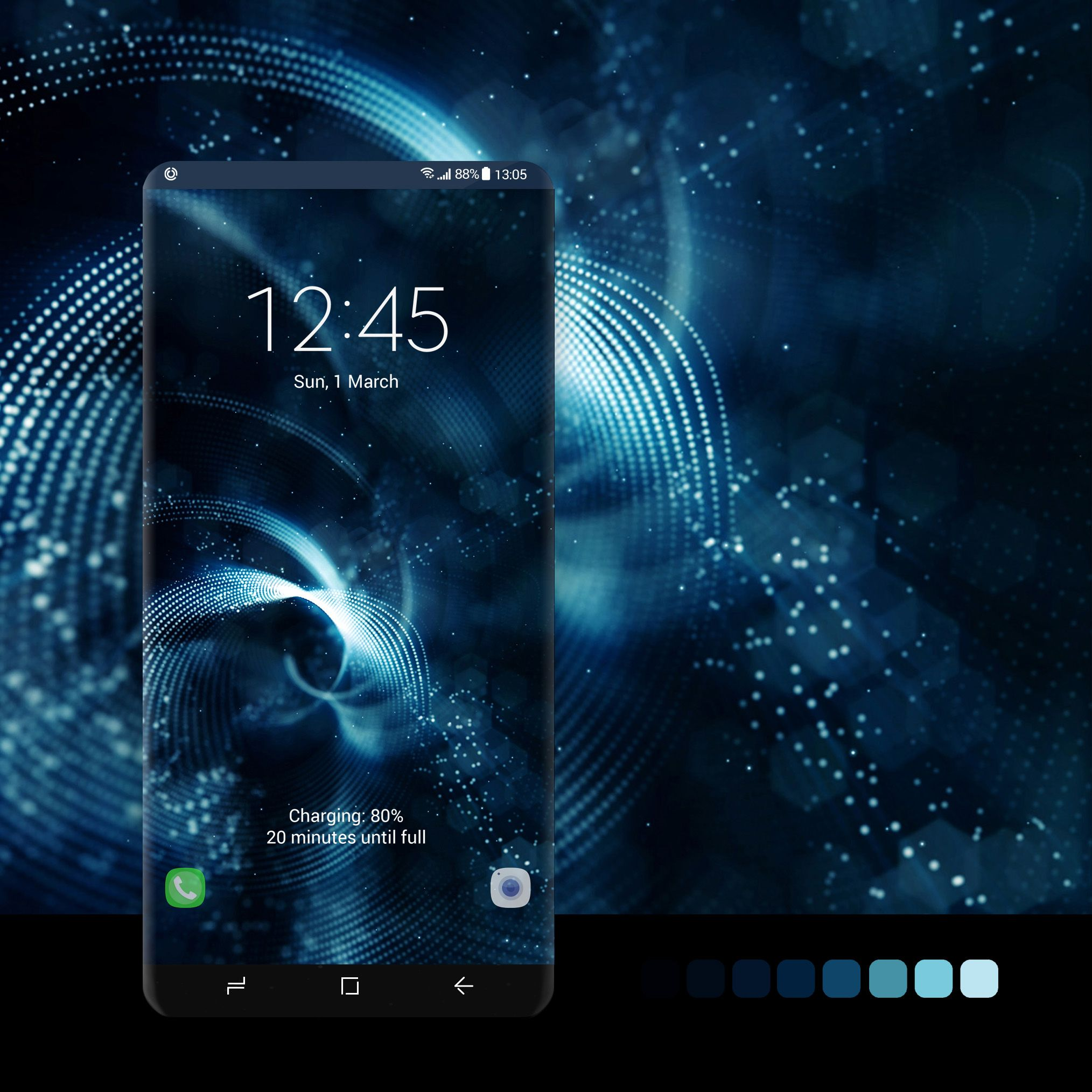 Dark blue twists wallpaper #wallpaper, #android, #phone