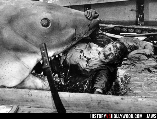 Jaws movie attack
