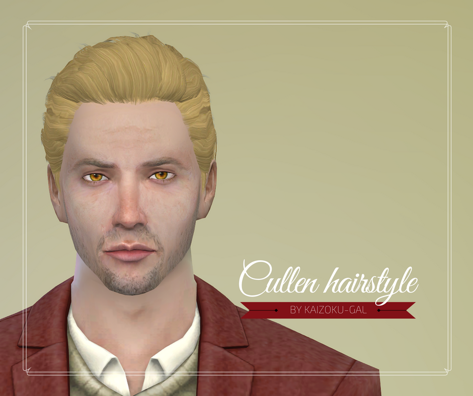 Cullen Hairstyle For The Sims 4 Kaizoku Gal Sims 4