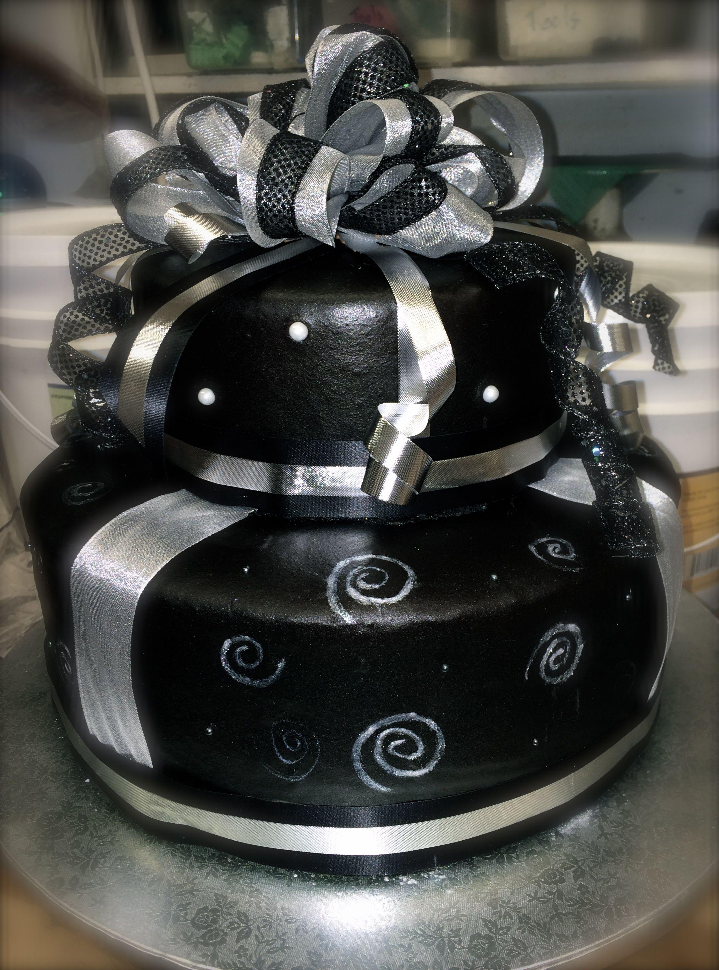 Black And Silver Birthday Cake Annie S Cakes Cake