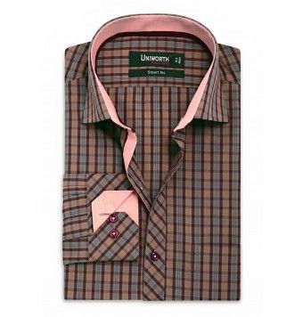 Crimson Multi Check Shirt