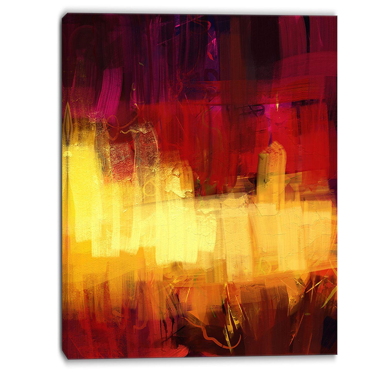 Designart - Textu Digital Abstract Art - Abstract Canvas Print ...