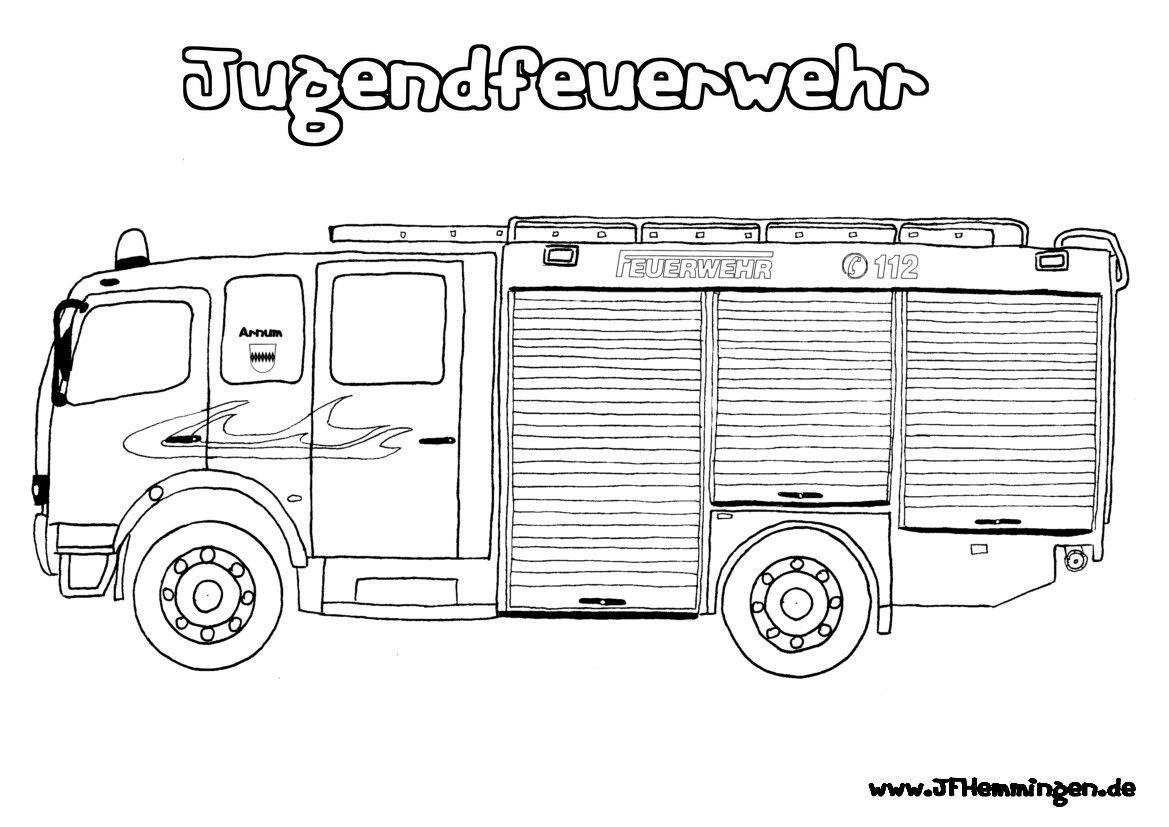 Malvorlagen Feuerwehrauto