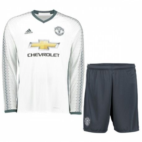Manchester United Season Third LS White Soccer Kit,all shirts are AAA+  quality and fast shipping,all the uniforms will be shipped as soon as  possible ...