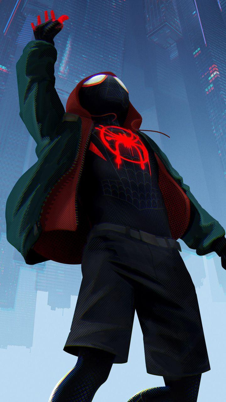 720x1280 wallpaper Animated movie, 2019, SpiderMan Into