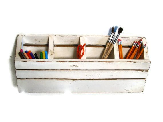 Shabby Chic Desk Or Wall Caddy Organizer Is Perfect For Your Home Office Or  Kids Art