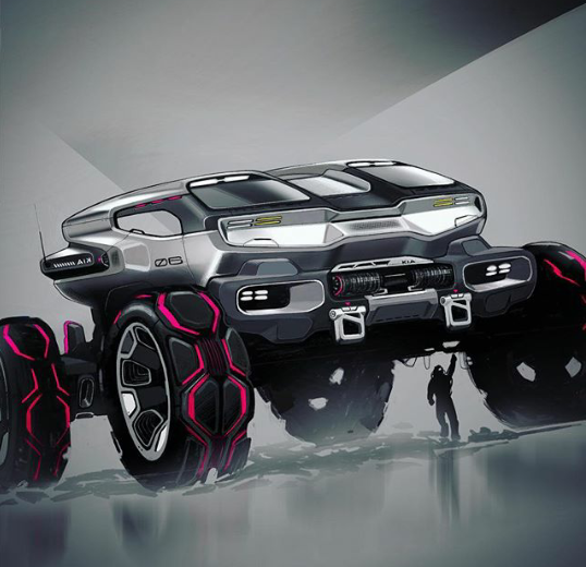 Futuristic Heavy Runner, Buggy, Jeep Concept Ar…