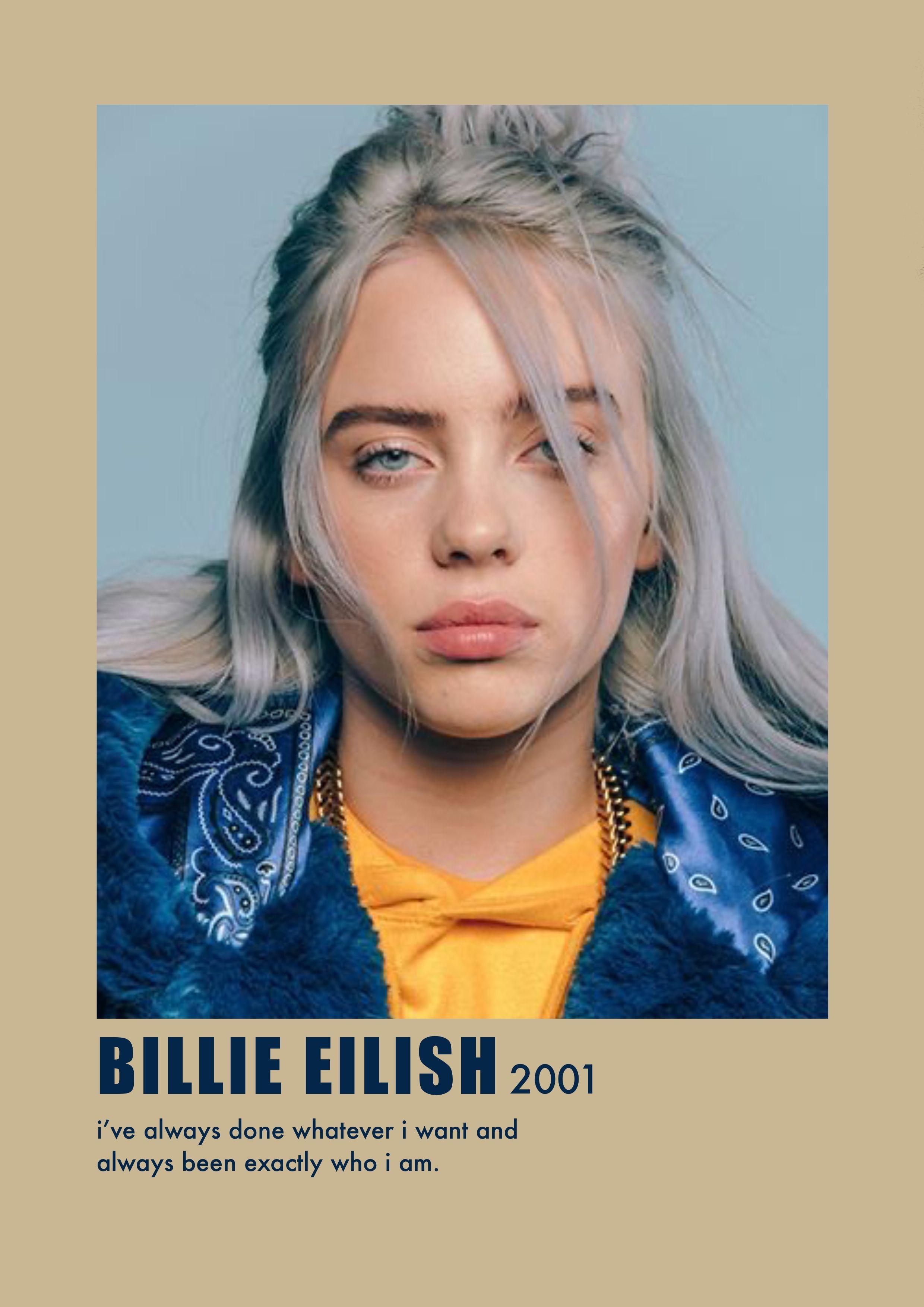 Billie Eilish Poster In 2020 Film Posters Minimalist Movie Posters Minimalist Movie Poster Wall