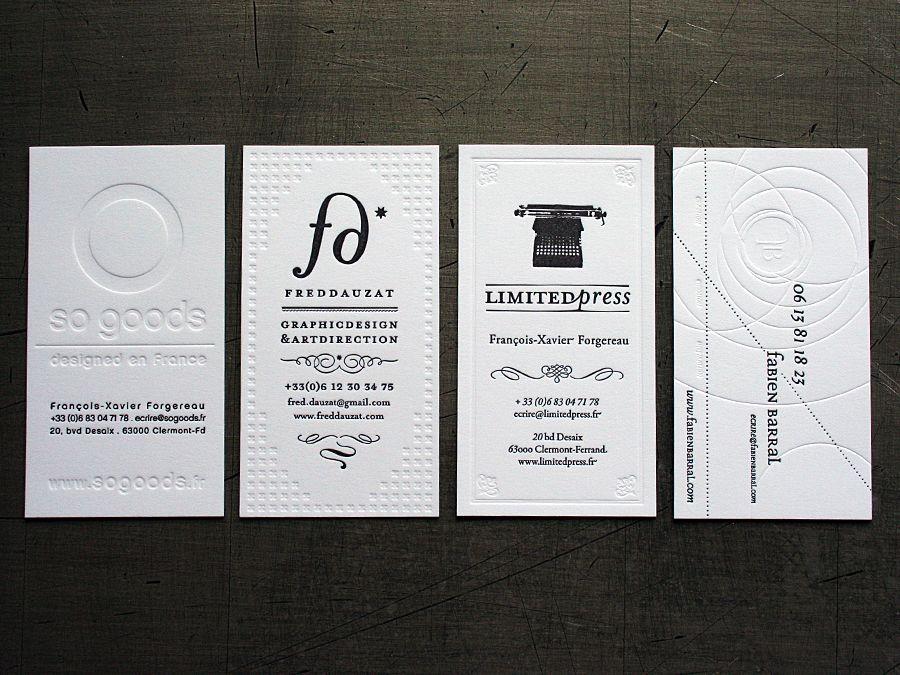 Carte Commerciale Trs Design Avec Un Gaufrage Bien Pens Et Ralis Agency Fabien Barral