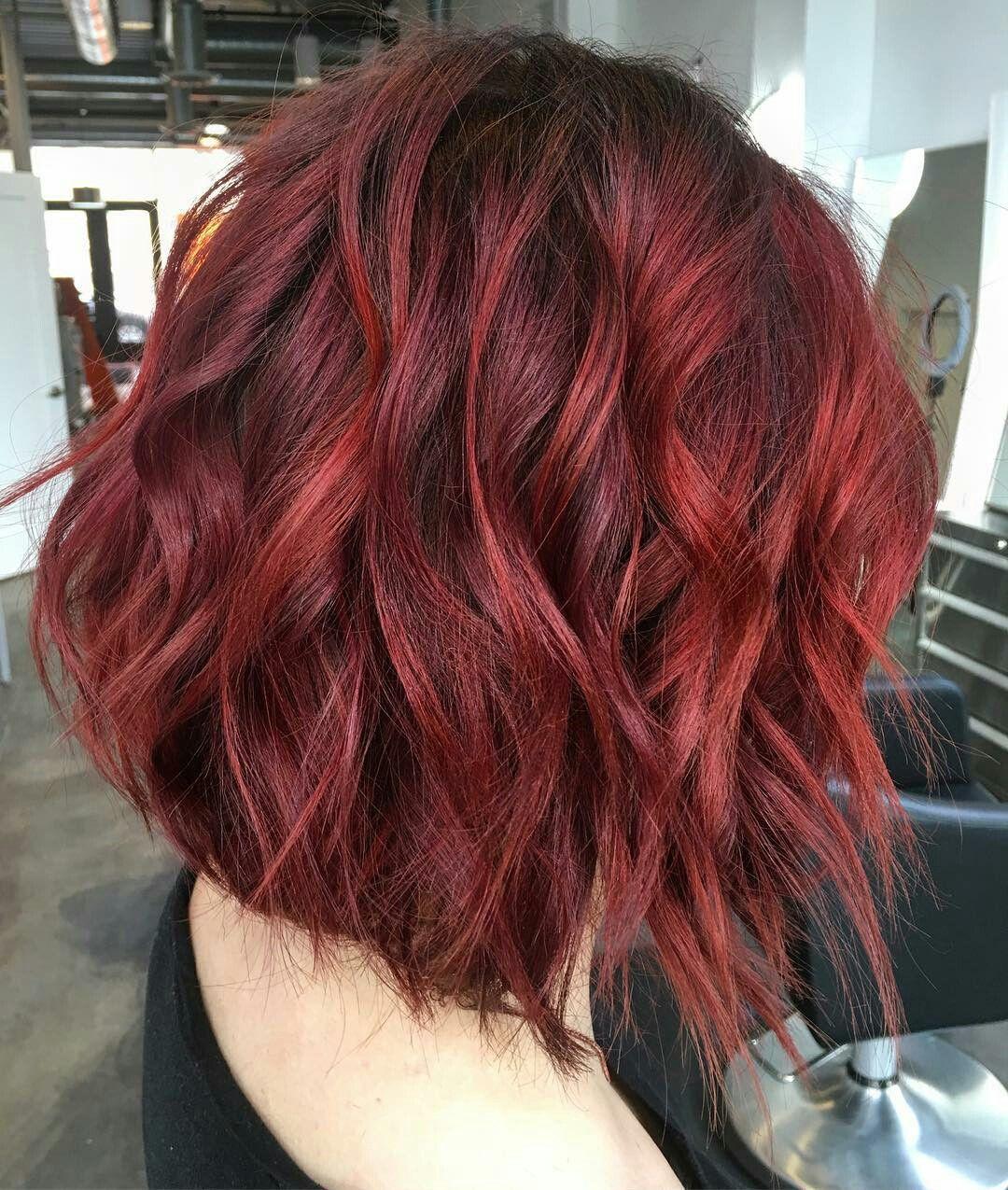 Follow Instagram Agathamont3 Pinterest Agathamont3 Red Ombre Hair Hair Styles Short Red Hair