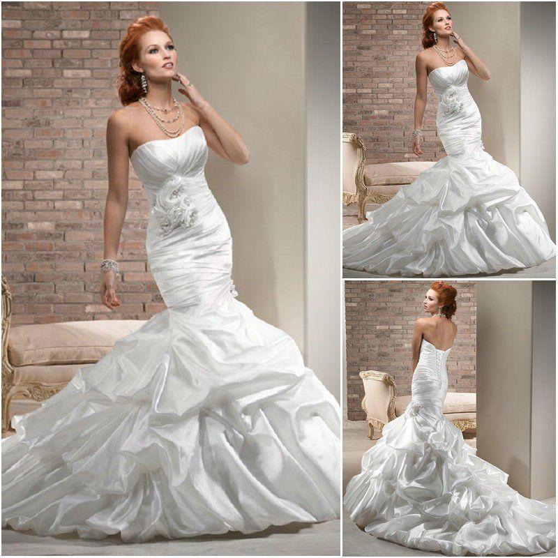 Vestidos de Novia con Cola de Sirena | Wedding dress cake, Dress ...