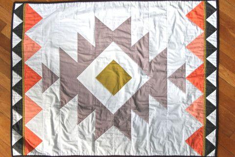 Coral Aztec Blanket | Iviebaby.com | Iviebaby