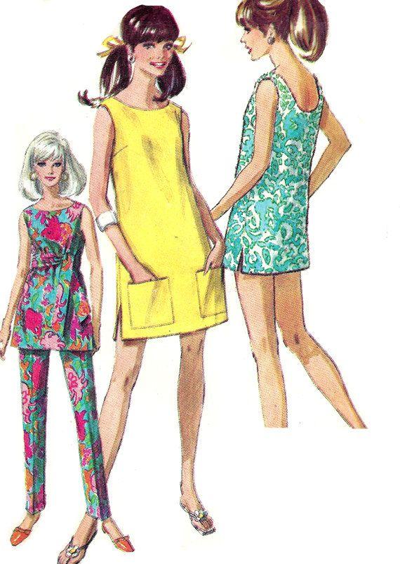 1960s Dress Pattern Vintage Simplicity Jiffy by SelmaLee on Etsy