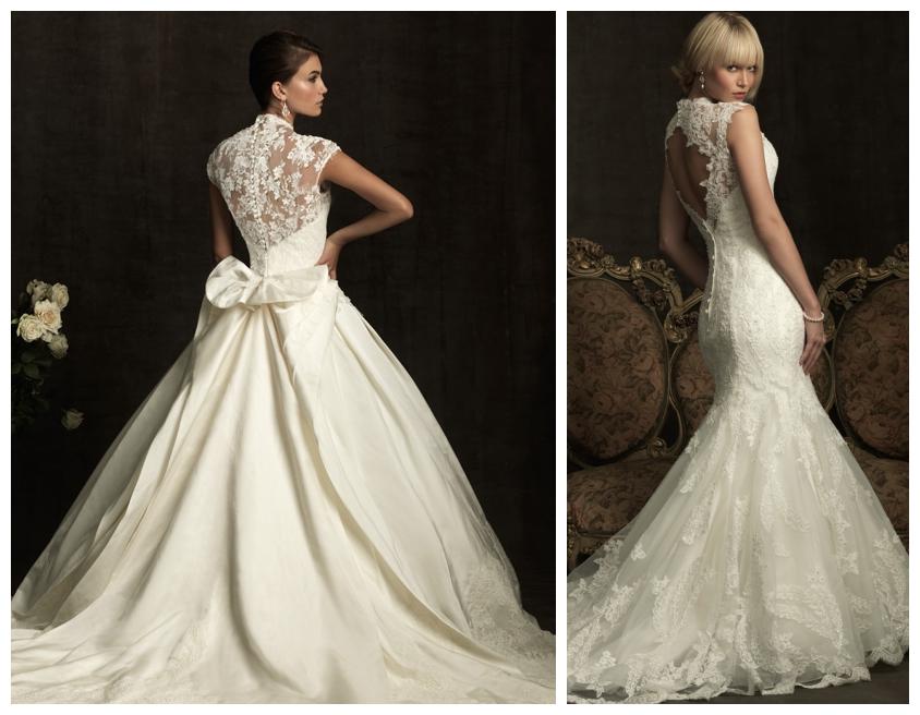 Vintage Lace Open Wedding Dress | : lace open back wedding dresses ...
