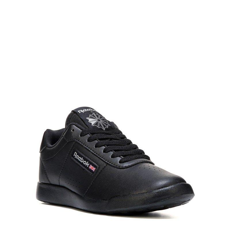 3d71508d27d3d5 Reebok Women s Princess Lite Memory Foam Wide Sneakers (Black) - 11.0 D