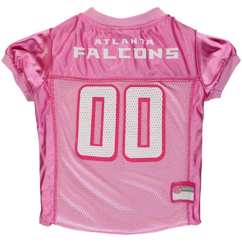 Atlanta Falcons Mesh Dog Jersey - Pink