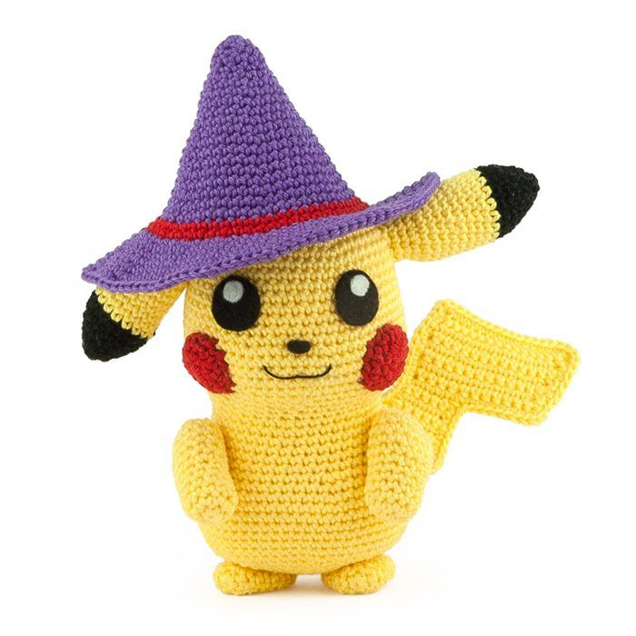 I had to crochet the most famous Pokemon of them all: Pikachu! Also ...