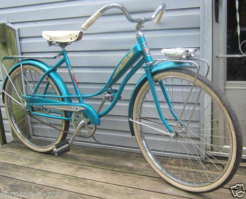 Columbia Thunderbolt Woman S Vintage Beach Cruiser Bicycle 1960 Bike W Tank Bicicletas Clasicas Bicicletas