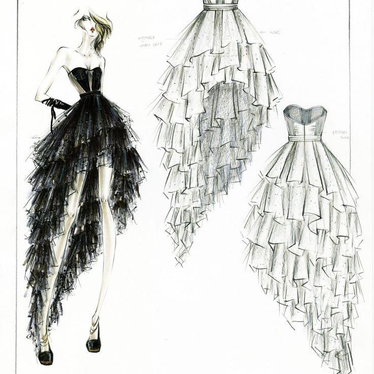 Fashion Design Ideas creative fashion design sketches using real flower petals Fashion Design Sketch Tm Vi Google