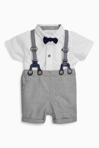 a4a9c3952762 Buy Grey Shorts And Braces Set (0mths-2yrs) from the Next UK online shop