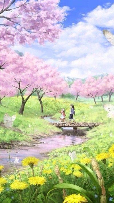 58+ ideas for sakura tree drawing anime girls