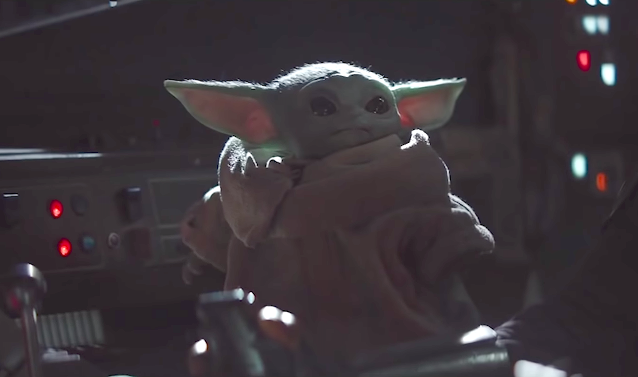 Baby Yoda Adorably Drops the Beat While Playing With