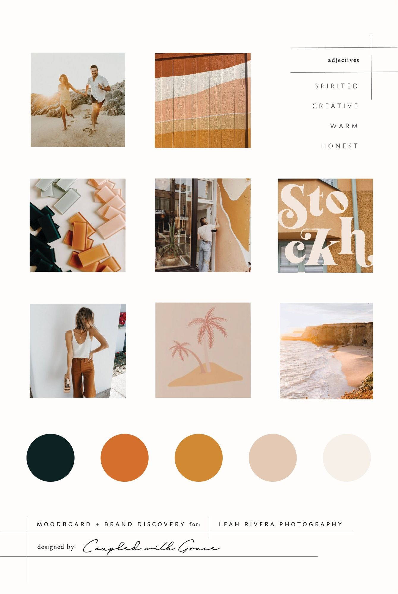 Moodboard Design for Leah Rivera Photography | Warm Moodboard Inspiration by Coupled With Grace