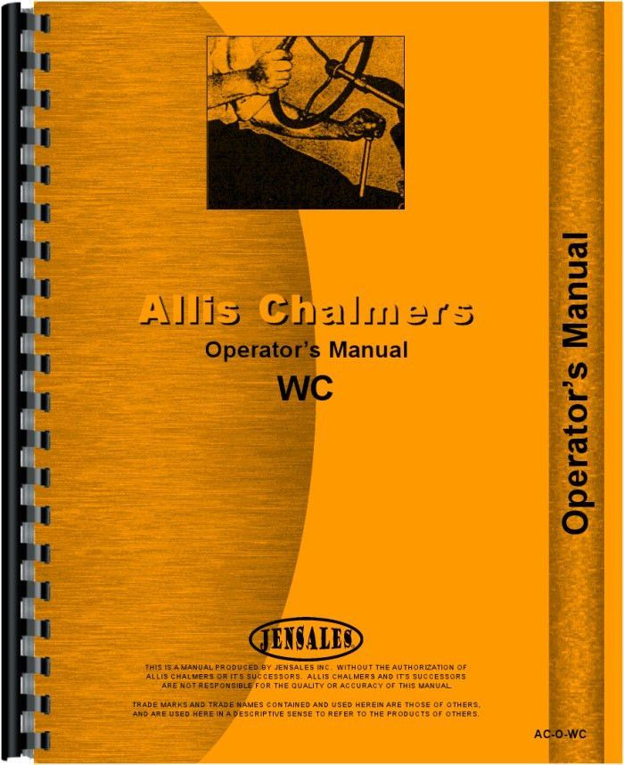 Allis Chalmers WC Tractor Operators Manual