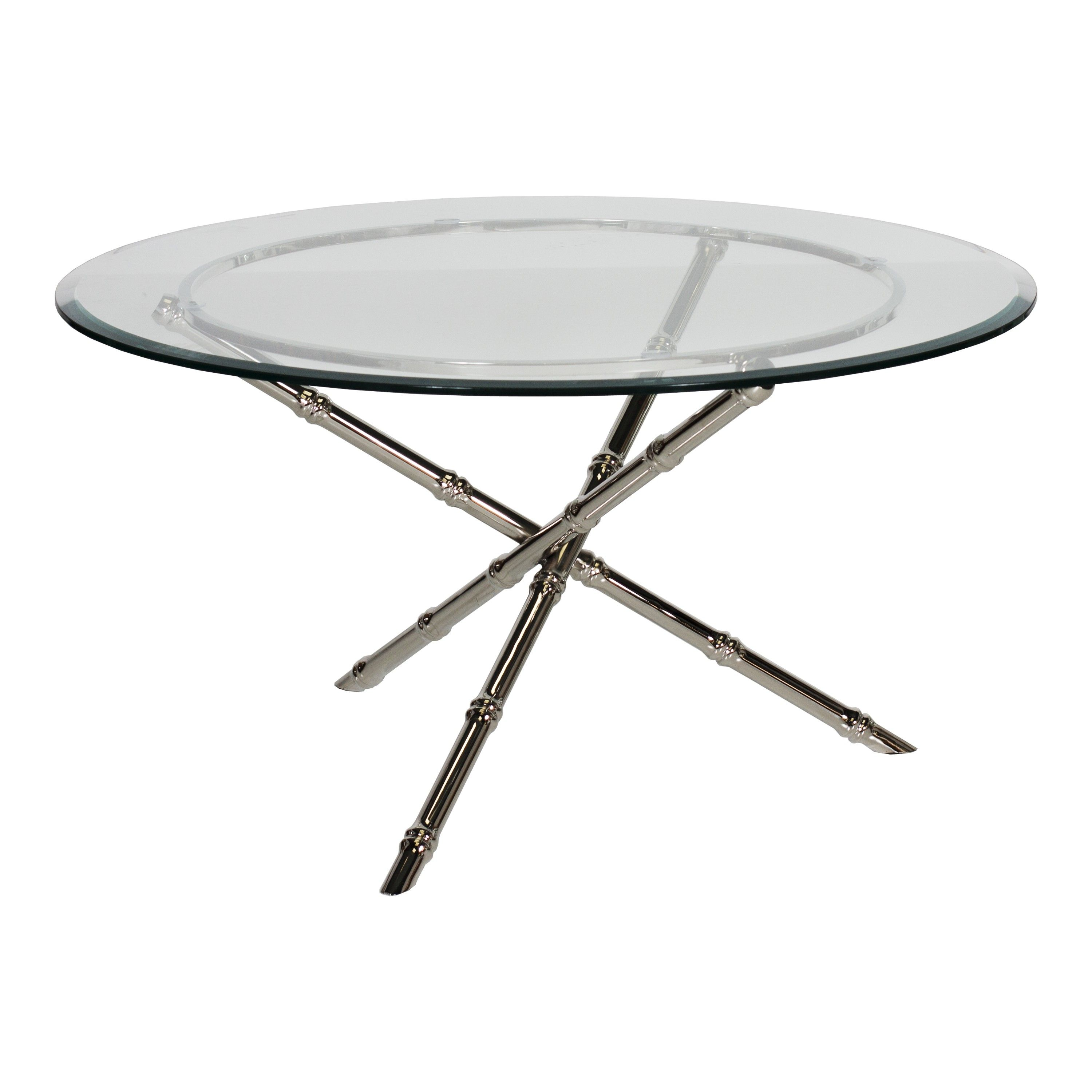 Avery n36 nickel plated bamboo coffee table base with 36 avery n36 nickel plated bamboo coffee table base with 36 diameter glass top geotapseo Image collections