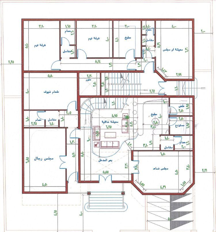 Pin By Faten On بيت العمر House Layout Plans Square House Plans Model House Plan