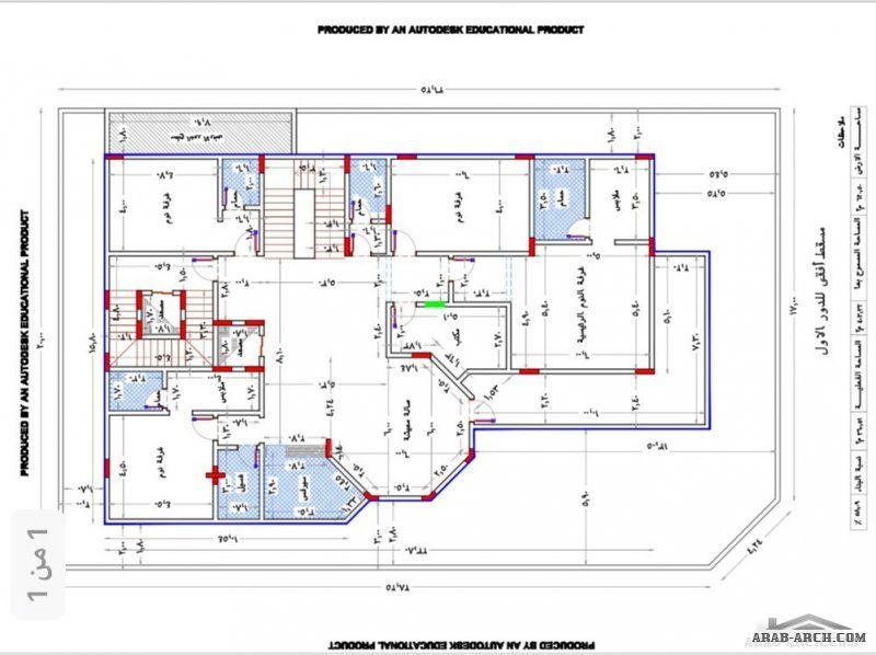 بيت العمر مخطط لأرض 620 على شارعين المخطط عبارة عن دورين وشقة بالملحق Cat House Plans My House Plans New House Plans
