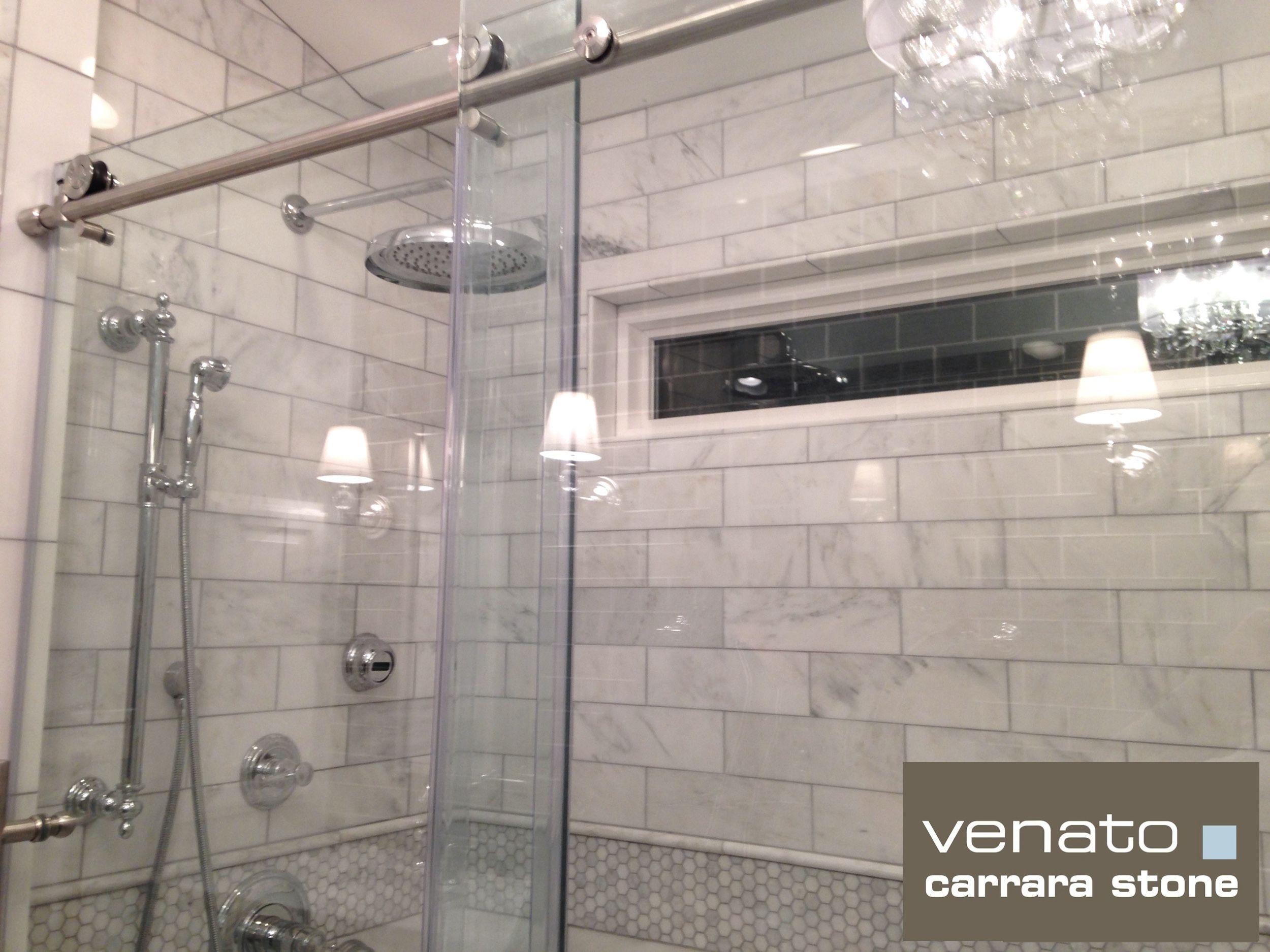 4x12 Subway Tile Shower Google Search Carrara Tile Shower