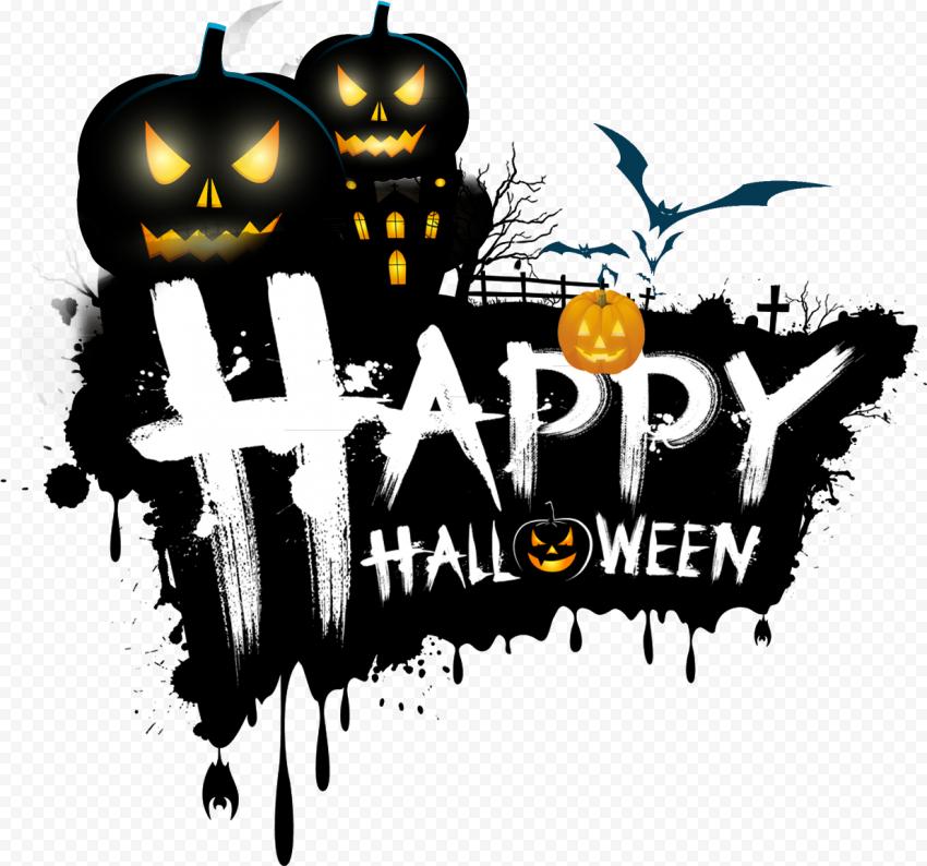 Happy Halloween Logo Illustration Pumpkins Bats Halloween Logo Halloween Images Happy Halloween Gif