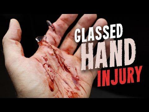 Glassed hand injury SFX makeup tutorial - YouTube | Halloween ...