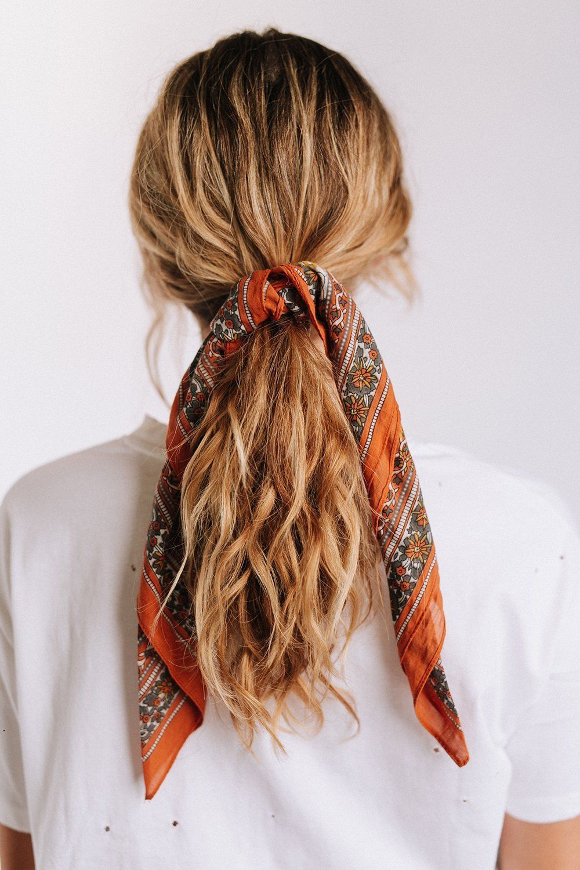 Floral Garden Bandana | Curly hair styles naturally, Scarf ...