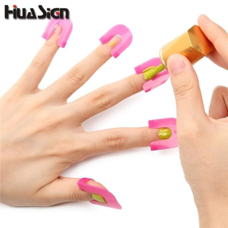 26pcs Set Manicure Finger Nail Polish Shield Protector Tool Art Stickers Tips Cover Case