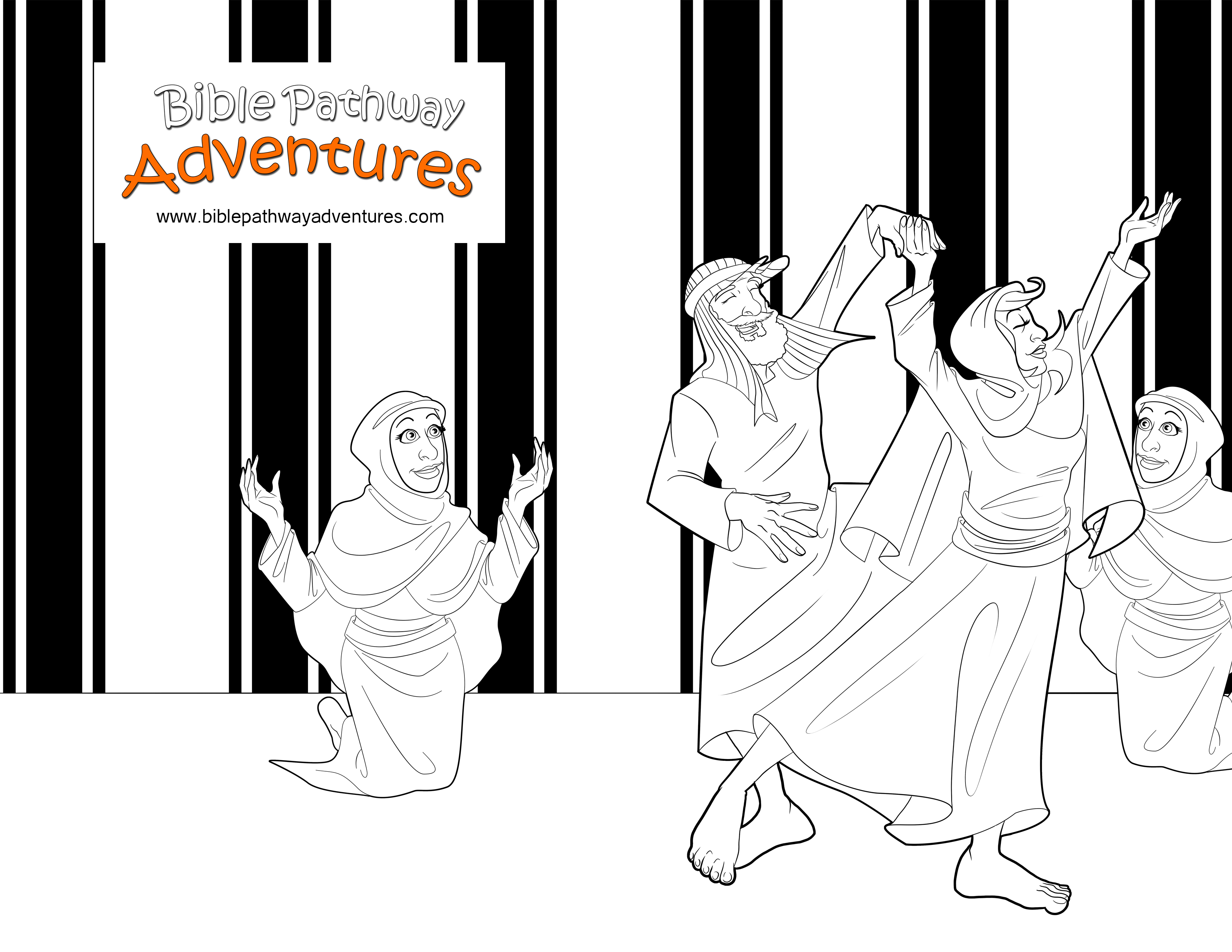 Bible Coloring Page   Moses and Zipporah get Married   FREE Bible ...